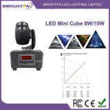 Miniweißes LED bewegliches Hauptstadiums-Licht des würfel-8W