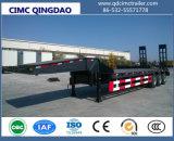 Cimc 2/3 degli assi 30t-80t della base piana del carico del camion di telaio basso del rimorchio semi