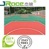 UV Deklaag 3/4/5mm Oppervlakte van de Bevloering van de Sport van de Bevloering van de Dikte de Binnen Rubber