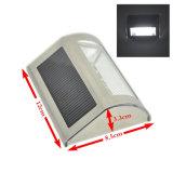 Lampe actionnée solaire de radio d'acier inoxydable de lumière de mur de 5 DEL