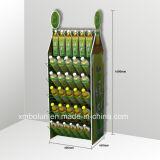 Nach Maß 3 Reihe-Mineralwasser-Flaschen-Standplatz-Wasser-Flaschen-Ausstellungsstände