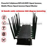 16バンド強力なCellphone/GPS/4G/WiFi Lojackシグナルの妨害機、携帯電話のシグナルの妨害機