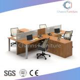 Serviço grossista L forma de turismo Workstation de madeira com compartimento lateral (CAS-W623)