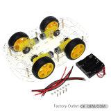 Le bricolage 4 roues Smart Kit voiture Robot châssis avec 4 pile AA Boîte de l'Arduino