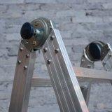 Het Functionele Aluminium die van de fabriek 2*6 de Telescopische Ladder van de Trede van de Uitbreiding Vouwbare vouwen