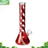 Glaswasser-Rohr-bunte Streifen-Huka Shisha Glaspfeife