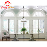 Professional arco fijo la parte superior de aluminio/aluminio corredizas ventana con arco