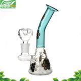 Glaswasser-Rohr-Becher-Unterseiten-kleine rauchende GlasHuka