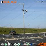 Isolar 8のメートル50Wの太陽風ハイブリッドLEDの街灯