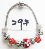 Armband Ref van de Charme DIY van vrouwen de Echte Zilveren Geplateerde Met de hand gemaakte: P 029