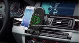 10Wは電話iPhone XのiPhoneのエア・ベントの手段のホールダーのための無線車の充電器をS7/S7端S6の端とS8/S8とSamsung 8/8のプラスのギャラクシーS9/S9と三巻く
