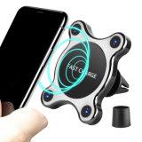 360 patentes de grado 2 en 1 Qi Wireless cargador de coche Teléfono móvil con soporte magnético para el iPhone 8/X