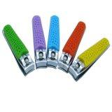 De taille moyenne de la poignée en silicone colorées pour cadeau promotionnel coupe-ongles pour doigt (608R-2)