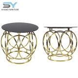 Diseñador de muebles de comedor mesa de café mesa de vidrio el extremo superior tabla
