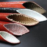Oxyde de fer rouge en fibre de verre recouvert de caoutchouc de silicone Silitube Heat-Resistance Tube de protection