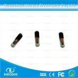 Venda quente FDX-B 134.2kHz RFID Microchip de identificação animal Etiqueta de vidro