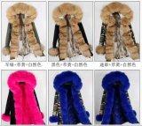 Best Selling Mulheres Parka túnicas de peles Real Camisa Coelho Raccoon casacos de pele