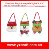 Decoração de Natal (ZY14Y139-1-2-3) Saco artesanais de Natal