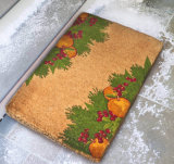 O projeto do diodo emissor de luz da música personalizou feito em esteiras de porta da fibra de coco da fibra de coco dos Cocos dos tapetes dos tapetes de Halloween do feriado do Natal de China