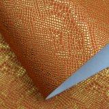 Couro sintético do plutônio do teste padrão do crocodilo para o empacotamento decorativo da bolsa