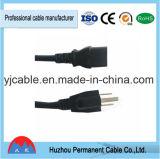 アメリカの標準ULのプラグの拡張パワープラグケーブル3 Pinの電源コード