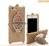 Stand FunctionのSamsung J2/J5/J7のための中国Wholesale Fancy TPU Mirror Cell Phone Cover Cases