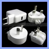 iPad iPhone Wall Charger Us/EU/UK/Au Plug를 위한 힘 Adapter Dual USB Travel Charger