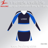 Healong 100% poliéster totalmente sublime tinte uniforme Cheerleading Plus Size