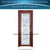 Porta interior do frame de alumínio de madeira da grão