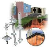 Schraubenartiges Pier-System für Solarbasis