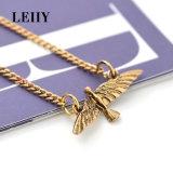 Reeks van de Halsband van de Nauwsluitende halsketting van het Leer van de Bloem van het Bergkristal van de Tegenhanger van de Duiven van de vrede Multicolored