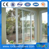 Ventana corrediza de aluminio vidrio templado con mosquitero exterior