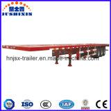3 차축 12.5m 32tons 콘테이너 편평한 침대 세미트레일러 또는 반 트럭 트레일러