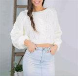 Breve pullover di lavoro a maglia del maglione del nuovo di modo 2018 della Corea manicotto di stile grande per le donne