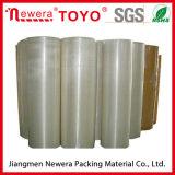 Transparentes wasserbasiertes anhaftendes acrylsauerband der riesiges Rollenverpackungs-BOPP