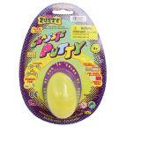 juguete de pensamiento de la masilla del amarillo 13G en el huevo plástico para el departamento del dólar
