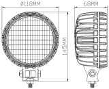 Onlangs 5inch 12V 56W Round LED Machine Work Lamps