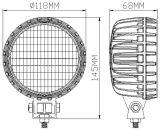 Nuevo 5pulgadas 12V 56W LED redonda de las luces de trabajo de la máquina