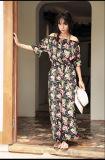 Stampato bruscamente vestire l'estate Sleeveless delle donne moderna più tarda dei vestiti casuali dal vestito americano dall'OEM 2017