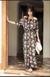 Vestido corto impreso OEM 2017 Vestido americano sin mangas Últimos vestidos modernos modernos Mujer Verano