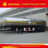 acoplado de aluminio del petrolero del acoplado del tanque de agua del transporte del combustible de la capacidad 50000liters