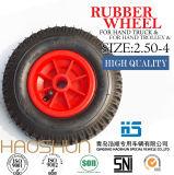 손수레 타이어 트롤리 타이어 압축 공기를 넣은 무덤 바퀴 타이어 피마자 바퀴 2.50-4