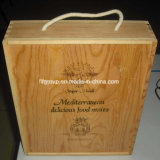 Contenitore di legno personalizzato nuovo disegno di vino con il marchio bruciato