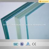 La curva, de forma plana de 10mm+1.14PVB+10mm vidrio templado laminado