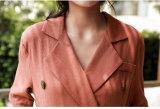 فصل صيف جديد طويلة كم أسود زهرة طبق باع بالجملة نساء [مإكسي] [أبا] ثوب