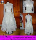 2014 Новый аппарат для приготовления чая устраивающих Gowns длины линии длинной втулки Backless кружева Бич свадебные платья