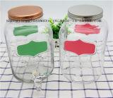 Envase de cristal del jugo de la aplicación de cocina del tarro del almacenaje de la muestra libre