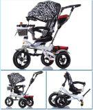 安全ベルトの赤ん坊の乗客の三輪車フレームはおおいが付いている三輪車をからかう