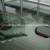 10mm transparente de la main courante le verre trempé avec certificat CE