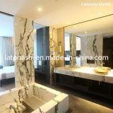 Mármore branco puro de pedra natural chinês para piso / revestimento